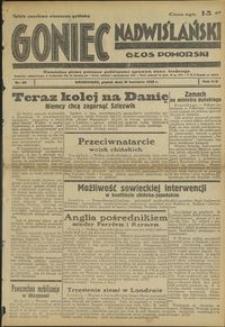 Goniec Nadwiślański : Głos Pomorski : niezależne pismo poranne poświęcone sprawom stanu średniego : 1938.04.15 R. 14 nr 88