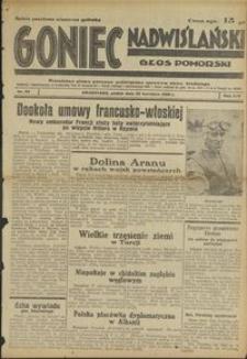 Goniec Nadwiślański : Glos Pomorski : niezależne pismo poranne poświęcone sprawom stanu średniego : 1938.04.22, R. 14 nr 93