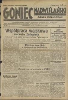 Goniec Nadwiślański : Głos Pomorski : niezależne pismo poranne poświęcone sprawom stanu średniego : 1938.04.26 R. 14 nr 96