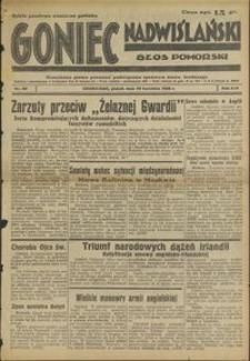 Goniec Nadwiślański : Głos Pomorski : niezależne pismo poranne poświęcone sprawom stanu średniego : 1938.04.29 R. 14 nr 99