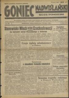 Goniec Nadwiślański : Głos Pomorski : niezależne pismo poranne poświęcone sprawom stanu średniego : 1938.05.07/08 R. 14 nr 105