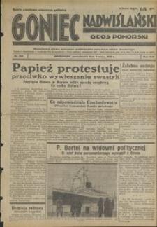 Goniec Nadwiślański : Głos Pomorski : niezależne pismo poranne poświęcone sprawom stanu średniego : 1938.05.09 R. 14 nr 106