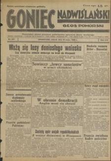 Goniec Nadwiślański : Głos Pomorski : niezależne pismo poranne poświęcone sprawom stanu średniego : 1938.05.10 R. 14 nr 107