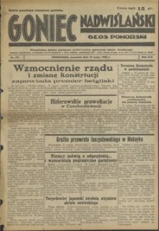 Goniec Nadwiślański : Głos Pomorski : niezależne pismo poranne poświęcone sprawom stanu średniego : 1938.05.19. R. 14, nr 115