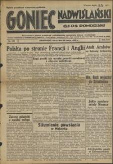 Goniec Nadwiślański : Głos Pomorski : niezależne pismo poranne poświęcone sprawom stanu średniego : 1938.05.25. R. 14, nr 120