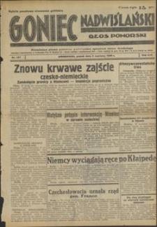 Goniec Nadwiślański : Głos Pomorski : niezależne pismo poranne poświęcone sprawom stanu średniego : 1938.06.03. R. 14, nr 127