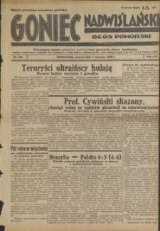 Goniec Nadwiślański : Głos Pomorski : niezależne pismo poranne poświęcone sprawom stanu średniego : 1938.06.07. R. 14, nr 128