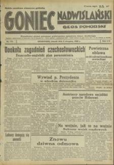 Goniec Nadwiślański : Głos Pomorski : niezależne pismo poranne poświęcone sprawom stanu średniego : 1938.08.02. R. 14, nr 175
