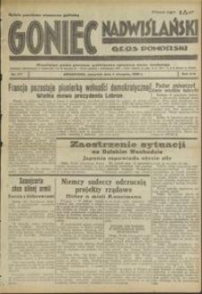 Goniec Nadwiślański : Głos Pomorski : niezależne pismo poranne poświęcone sprawom stanu średniego : 1938.08.04. R. 14, nr 177