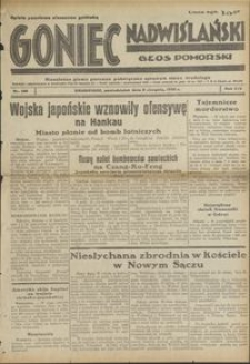 Goniec Nadwiślański : Głos Pomorski : niezależne pismo poranne poświęcone sprawom stanu średniego : 1938.08.08. R. 14, nr 180