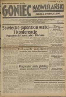 Goniec Nadwiślański : Głos Pomorski : niezależne pismo poranne poświęcone sprawom stanu średniego : 1938.08.10. R. 14, nr 182