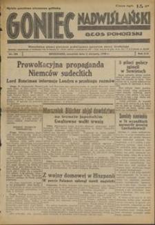 Goniec Nadwiślański : Głos Pomorski : niezależne pismo poranne poświęcone sprawom stanu średniego : 1938.08.11 R. 14 nr 183