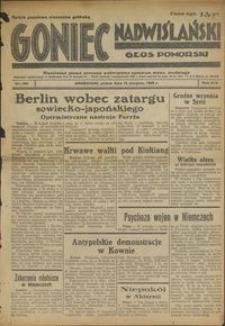 Goniec Nadwiślański : Głos Pomorski : niezależne pismo poranne poświęcone sprawom stanu średniego : 1938.08.12 R. 14 nr 184