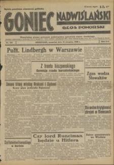 Goniec Nadwiślański : Głos Pomorski : niezależne pismo poranne poświęcone sprawom stanu średniego : 1938.08.18 R. 14 nr 188