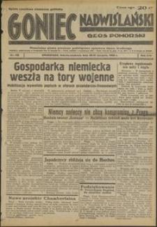 Goniec Nadwiślański : Głos Pomorski : niezależne pismo poranne poświęcone sprawom stanu średniego : 1938.08.20/21, R. 14 nr 190