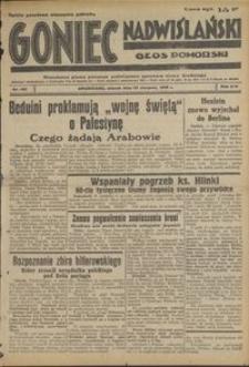 Goniec Nadwiślański : Głos Pomorski : niezależne pismo poranne poświęcone sprawom stanu średniego : 1938.08.23, R. 14 nr 192