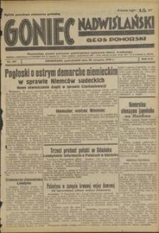 Goniec Nadwiślański : Głos Pomorski : niezależne pismo poranne poświęcone sprawom stanu średniego : 1938.08.29, R. 14 nr 197