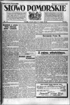 Słowo Pomorskie 1922.02.14 R.2 nr 37