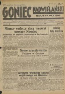 Goniec Nadwiślański : Głos Pomorski : niezależne pismo poranne poświęcone sprawom stanu średniego : 1938.09.05, R. 14 nr 203