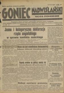 Goniec Nadwiślański : Głos Pomorski : niezależne pismo poranne poświęcone sprawom stanu średniego : 1938.09.13, R. 14 nr 210