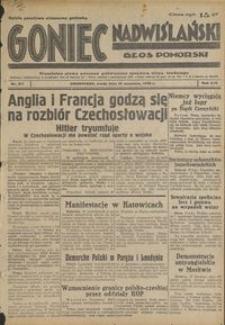 Goniec Nadwiślański : Głos Pomorski : niezależne pismo poranne poświęcone sprawom stanu średniego : 1938.09.21, R. 14 nr 217