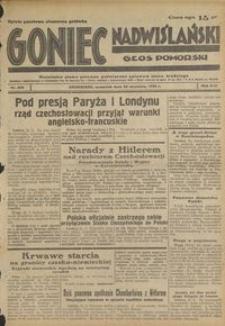 Goniec Nadwiślański : Głos Pomorski : niezależne pismo poranne poświęcone sprawom stanu średniego : 1938.09.22, R. 14 nr 218