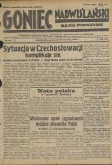 Goniec Nadwiślański : Głos Pomorski : niezależne pismo poranne poświęcone sprawom stanu średniego : 1938.09.23, R. 14 nr 219