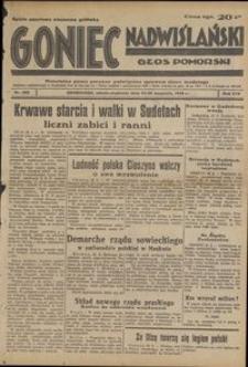 Goniec Nadwiślański : Głos Pomorski : niezależne pismo poranne poświęcone sprawom stanu średniego : 1938.09.24/25, R. 14 nr 220