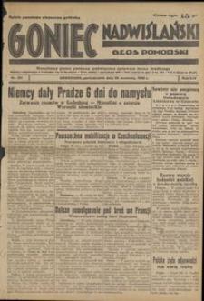 Goniec Nadwiślański : Głos Pomorski : niezależne pismo poranne poświęcone sprawom stanu średniego : 1938.09.26, R. 14 nr 221