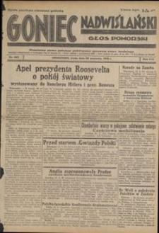 Goniec Nadwiślański : Głos Pomorski : niezależne pismo poranne poświęcone sprawom stanu średniego : 1938.09.28, R. 14 nr 223