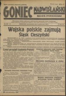 Goniec Nadwiślański : Głos Pomorski : niezależne pismo poranne poświęcone sprawom stanu średniego : 1938.10.03, R. 14 nr 227
