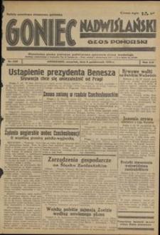 Goniec Nadwiślański : Głos Pomorski : niezależne pismo poranne poświęcone sprawom stanu średniego : 1938.10.06, R. 14 nr 230