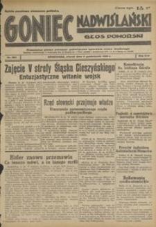 Goniec Nadwiślański : Głos Pomorski : niezależne pismo poranne poświęcone sprawom stanu średniego : 1938.10.11, R. 14 nr 234