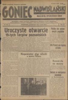 Goniec Nadwiślański : Głos Pomorski : niezależne pismo poranne poświęcone sprawom stanu średniego : 1939.05.01, R. 15 nr 101