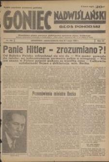Goniec Nadwiślański : Głos Pomorski : niezależne pismo poranne poświęcone sprawom stanu średniego : 1939.05.06/07, R. 15 nr 105