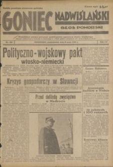 Goniec Nadwiślański : Głos Pomorski : niezależne pismo poranne poświęcone sprawom stanu średniego : 1939.05.08, R. 15 nr 106