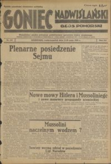 Goniec Nadwiślański : Głos Pomorski : niezależne pismo poranne poświęcone sprawom stanu średniego : 1939.05.17/18, R. 15 nr 114