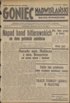 Goniec Nadwiślański : Głos Pomorski : niezależne pismo poranne poświęcone sprawom stanu średniego : 1939.05.22, R. 15 nr 117