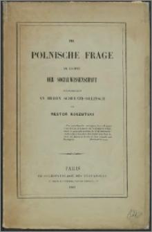 Der polnische Frage im lichte der socialwissenschaft sendschreiben an Herrn Schultze-Delitsch