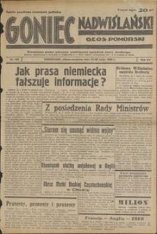 Goniec Nadwiślański : Głos Pomorski : niezależne pismo poranne poświęcone sprawom stanu średniego : 1939.05.27/28, r. 15 nr 122