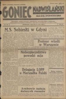 Goniec Nadwiślański : Głos Pomorski : niezależne pismo poranne poświęcone sprawom stanu średniego : 1939.05.31, R. 15 nr 124