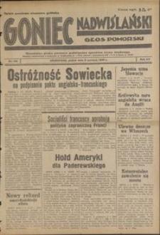 Goniec Nadwiślański : Głos Pomorski : niezależne pismo poranne poświęcone sprawom stanu średniego : 1939.06.02, R. 15 nr 126
