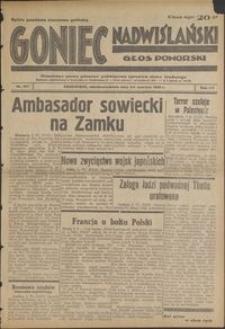Goniec Nadwiślański : Głos Pomorski : niezależne pismo poranne poświęcone sprawom stanu średniego : 1939.06.3/4, R. 15 nr 127