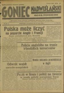 Goniec Nadwiślański : Glos Pomorski : niezależne pismo poranne poświęcone sprawom stanu średniego : 1939.07.10, R. 15 nr 155