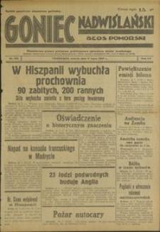 Goniec Nadwiślański : Glos Pomorski : niezależne pismo poranne poświęcone sprawom stanu średniego : 1939.07.11, R. 15 nr 156