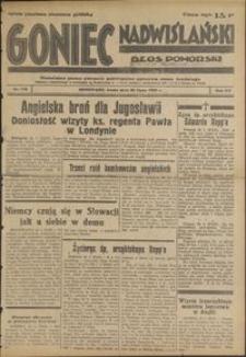 Goniec Nadwiślański : Glos Pomorski : niezależne pismo poranne poświęcone sprawom stanu średniego : 1939.07.26, R. 15 nr 170