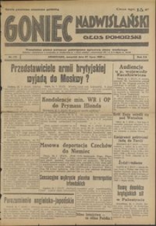 Goniec Nadwiślański : Glos Pomorski : niezależne pismo poranne poświęcone sprawom stanu średniego : 1939.07.27, R. 15 nr 171