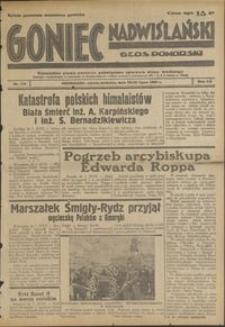 Goniec Nadwiślański : Glos Pomorski : niezależne pismo poranne poświęcone sprawom stanu średniego : 1939.07.29/30, R. 15 nr 173