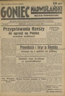 Goniec Nadwiślański : Glos Pomorski : niezależne pismo poranne poświęcone sprawom stanu średniego : 1939.08.31, R. 15 nr 200