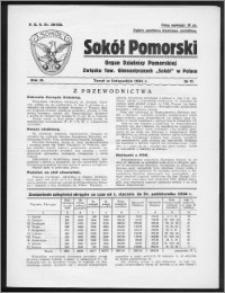 Sokół Pomorski 1934, R. 3, nr 11